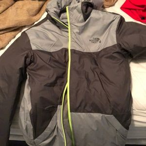 Men's reversible north face coat